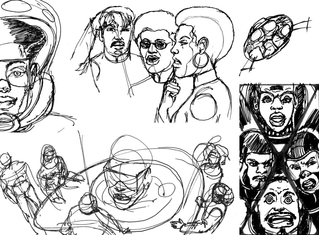 Misc A.O. Comic Strip Sketches